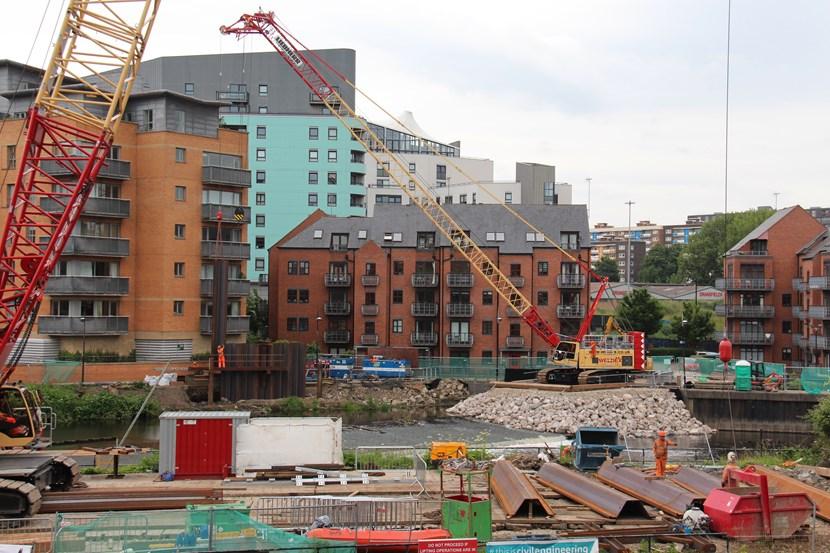 Next phase of Leeds flood defence works set to begin: ongoingpiling.jpg