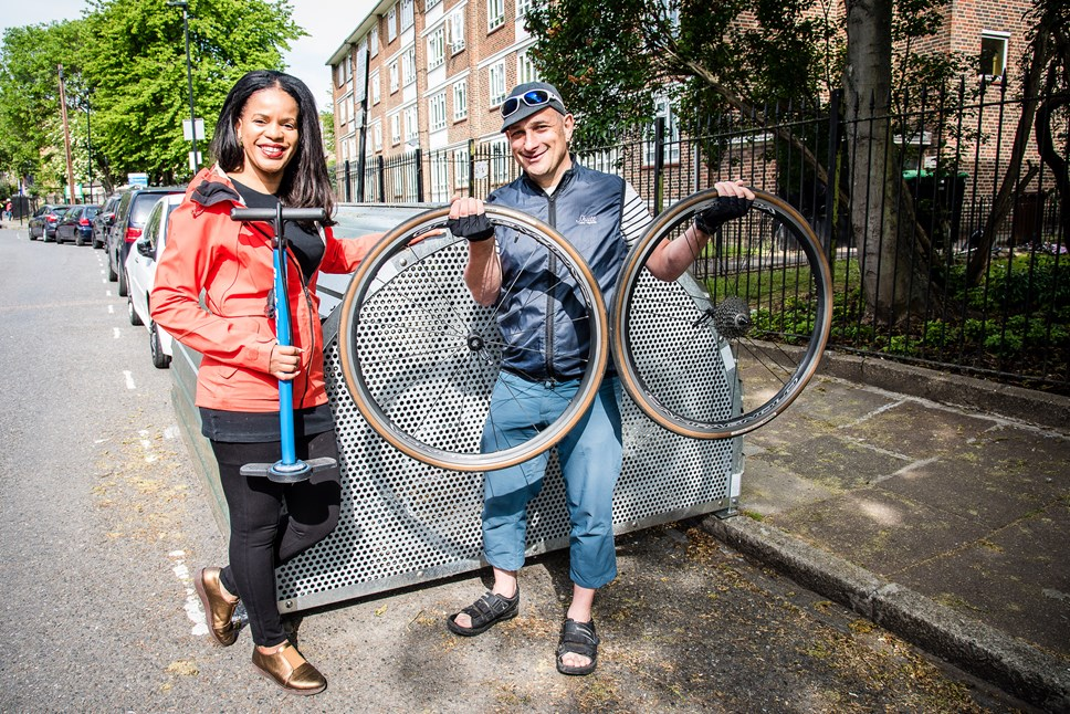 Islington Council rolls out 100th bike hangar in latest boost to sustainable transport: 100th Bike Hangar 1