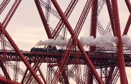 Network Rail showcases Britain's most stunning landscapes as search begins for Landscape Photographer of the Year: Winner of the Network Rail Lines in the Landscape award, 2013 Take-a-View Landscape Photographer of the Year - Caught in a Web of Iron - The Forth Rail Bridge Scotland © David Cation