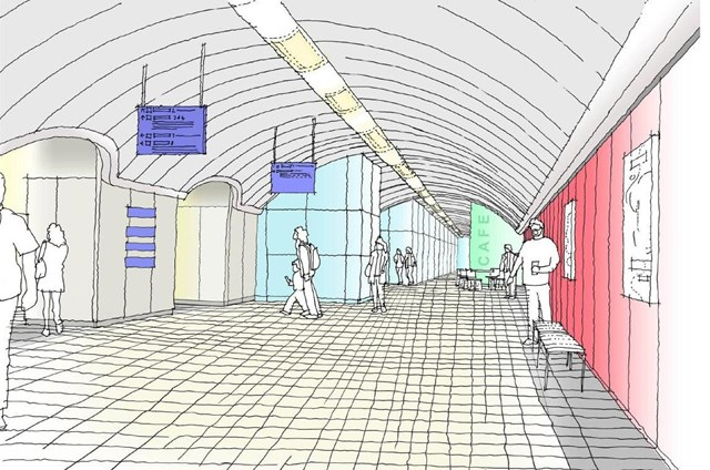 WORK STARTS TO UPGRADE VAUXHALL STATION: Artist's impression of improvements at Vauxhall station