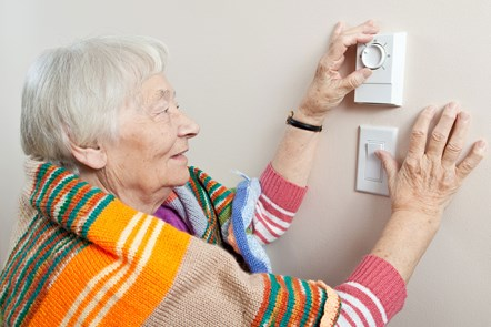 How is the industry looking after vulnerable customers?: Customer adjusting heating
