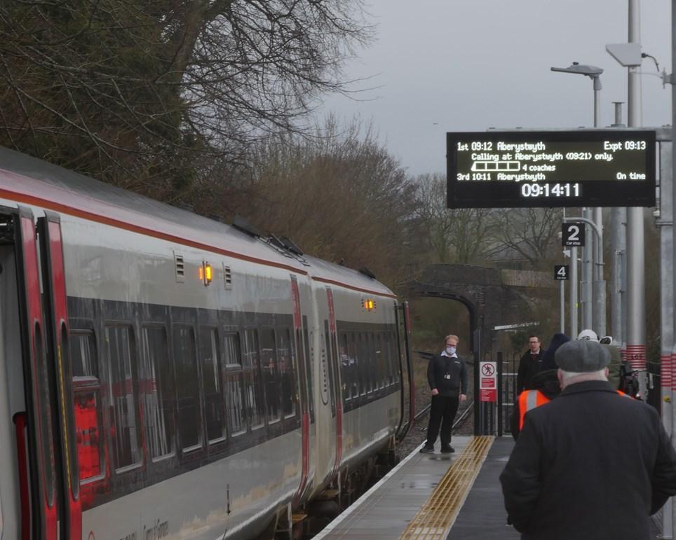 Bow Street first train (2)