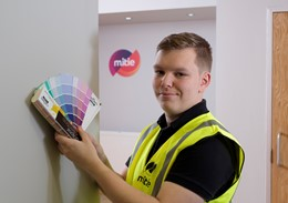 Pictured: Think Differently candidate, Connor Cusaik, has since commenced a painting apprenticeship with Mitie following his hard work and success on the programme.: Pictured: Think Differently candidate, Connor Cusaik, has since commenced a painting apprenticeship with Mitie following his hard work and success on the programme.