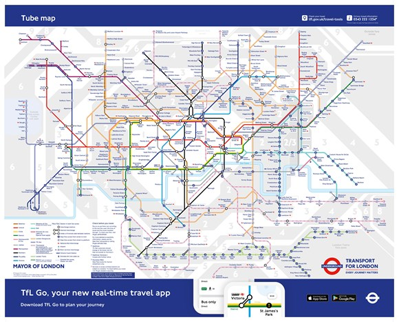 Tube Map - December 2020 - Credit TfL