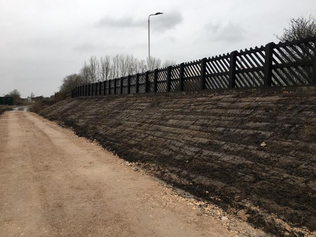 Network Rail completes work to strengthen Sherburn in Elmet embankment: Network Rail completes work to strengthen Sherburn in Elmet embankment