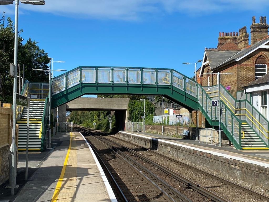 Network Rail delivers £800k bridge structure at Westgate-on-Sea railway station: Westgate-on-Sea footbridge