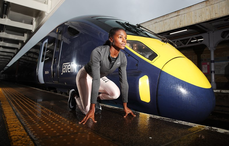 High Speed Train Named in Honour of European Champion Dina Asher-Smith: PinPep Asher Smith 201118 020