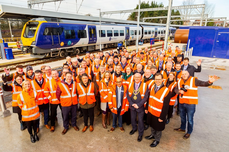 New multi-million pound train depot opens in Wigan: Springs Branch 1