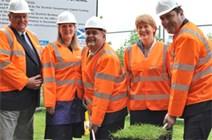 Selkirk Flood Protection Scheme gets underway: Selkirk Flood Protection Scheme gets underway