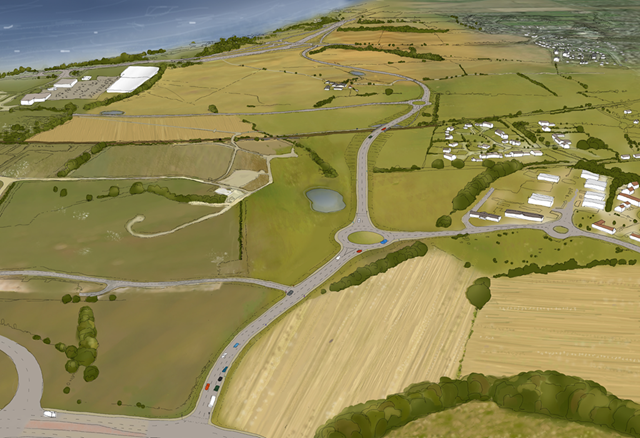 Inverness link road plans unveiled: A9A96 Inshes to Smithton - Artist's Impression
