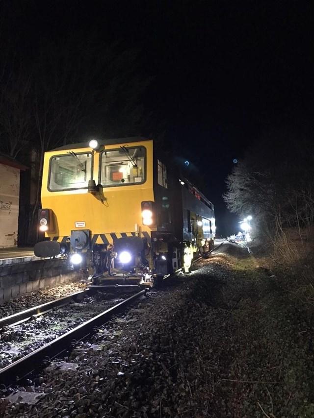 Tamping train at Yetminster