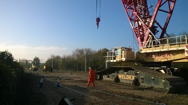 Bridging the gap: a step closer to better train services in Tottenham and Edmonton: Lea.Valley.Project.Crane.