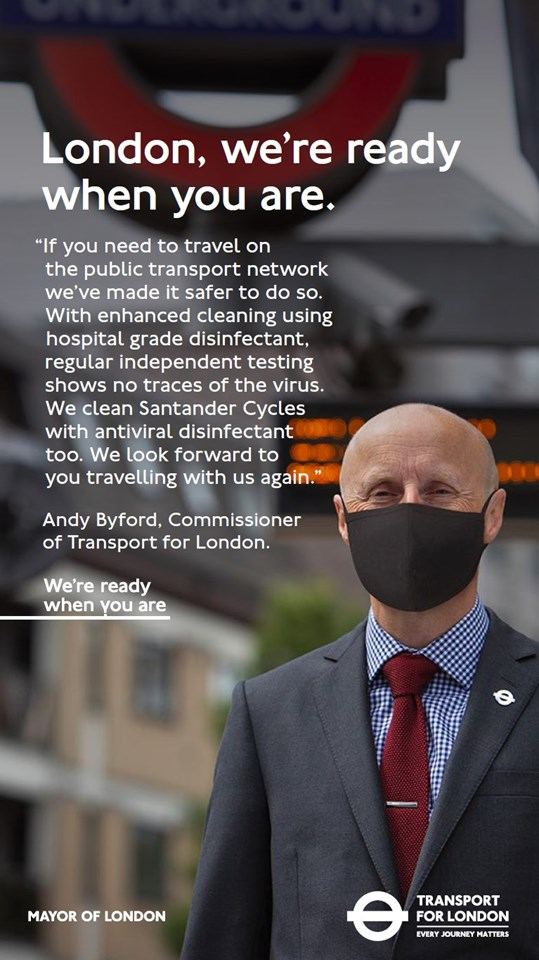 TfL Image - TfL Commissioner Andy Byford - we're ready