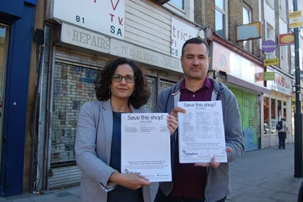 Business Rates Petition Launch: Cllr Asima Shaikh, Islington Council's executive member for inclusive economy and jobs, left, and Hak Huseyin, chair of Islington Chamber of Commerce, with the petition.