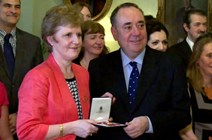 First Minister presents honorary OBE to Professor Andrea Nolan: SG Youtube - http://www.youtube.com/watch?v=BiQGNikLmCM&feature=share&list=PLCAF1270B893198E5