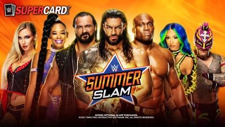WWE SuperCard SummerSlam 2021 Banner