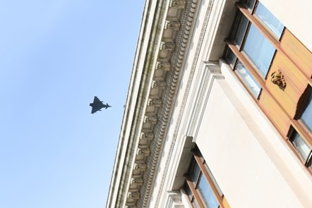 Fly Past over Welsh Government building