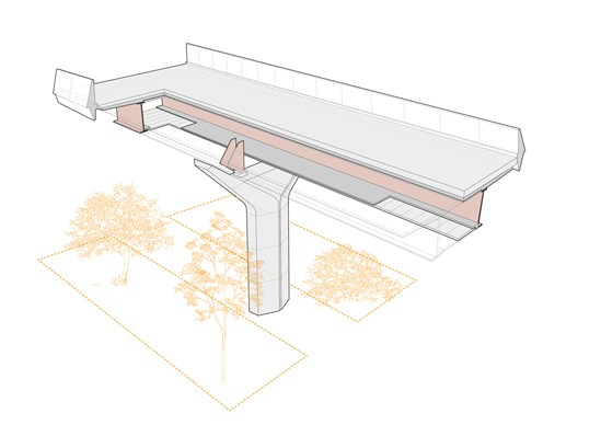 HS2 designers cut carbon with pioneering new viaduct design: Wendover Dean Viaduct cutaway image showing double composite structure