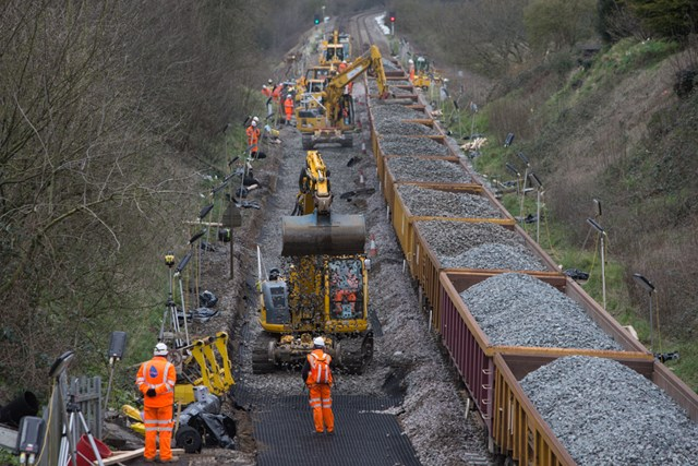 Passengers and community thanked for their patience as latest phase of railway electrification work between Bath and Bristol is completed: Track lowering between Bath and Bristol