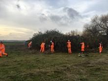 Gospel Oak to Barking team work on the Walthamstow Wetlands