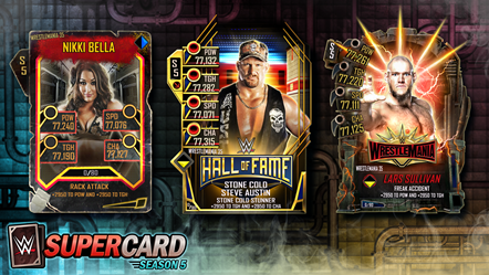 WWE® SuperCard WrestleMania 35 Cards: Throwback, Hall of Fame and Fusion Cards: WWESC S5 WrestleMania 35 Tier Art