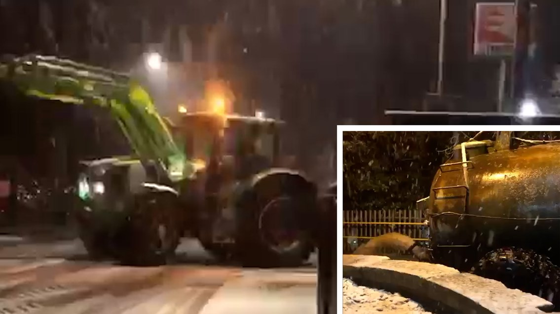 Tractor driver caught using railway as 'personal sewer' during floods: Tractor dumping at Hartford station composite
