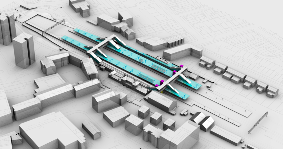 Last call for feedback on plans to upgrade Norwood Junction: Norwood Junction station CGI