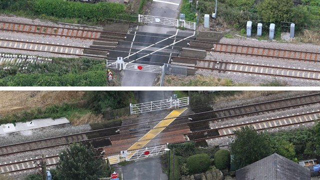 West Lancashire residents asked for views on level crossing safety: Shaws and Crabtree level crossings composite
