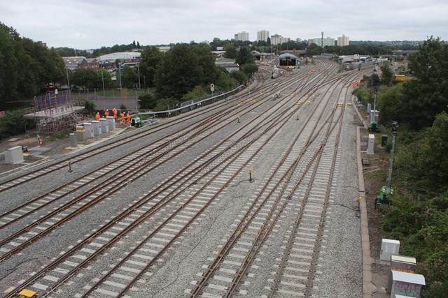 View of upgraded track at Bristol East Junction looking away from Bristol Temple Meads station