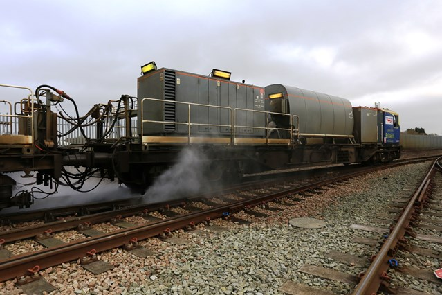 Network Rail's leaf-busting trains prepare for autumn: IMG 4131