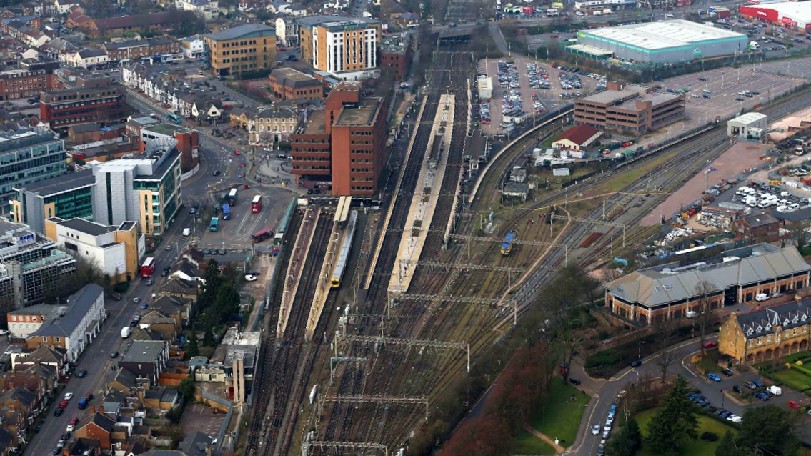 Abbey Line speed limits means timetable changes for passengers: Watford Junction Abbey Line aerial shot