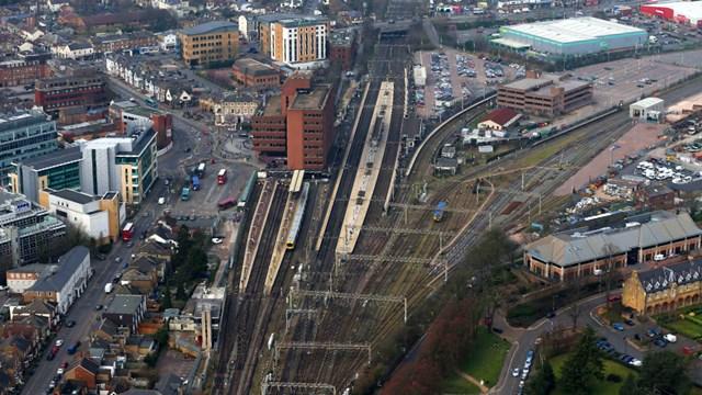 Watford Junction Abbey Line aerial shot