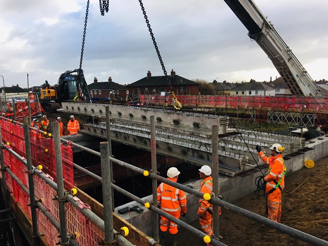 Highbury Road, Lytham St Annes bridge work