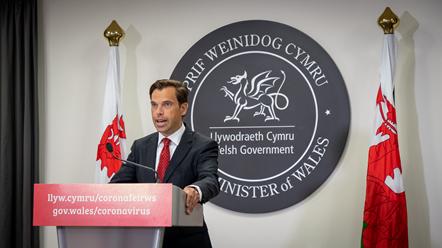 Economy Minister Ken Skates press conference