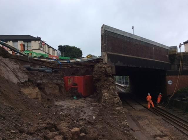 Moses Gate damage to railway bridge