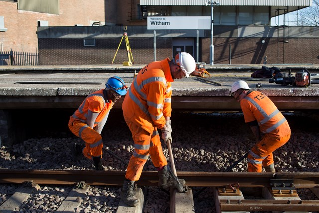 Network Rail working to improve railway at Witham: Network Rail working to improve the railway at Witham