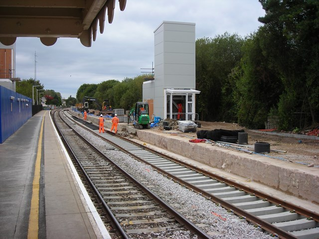 TRACKING PROGRESS AT AXMINSTER: Axminster station ready for the finishing touch