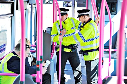 Travelsafe  officers on bus