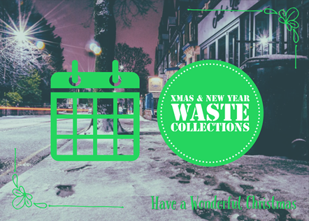 Christmas and New Year waste collection changes: Christmas waste