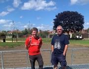 Cllr Craske at the new Old Farm Park playground and wildlife habitat with Gordon Davis