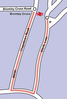 Bromley Cross level crossing diversionary route