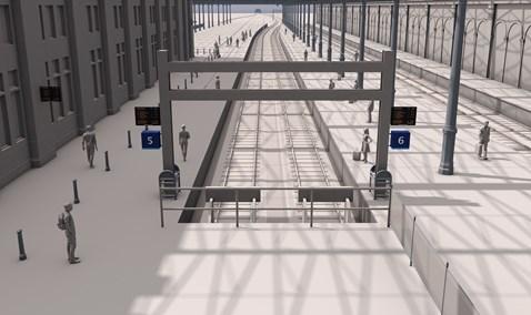 Waverley platforms 5&6 looking east