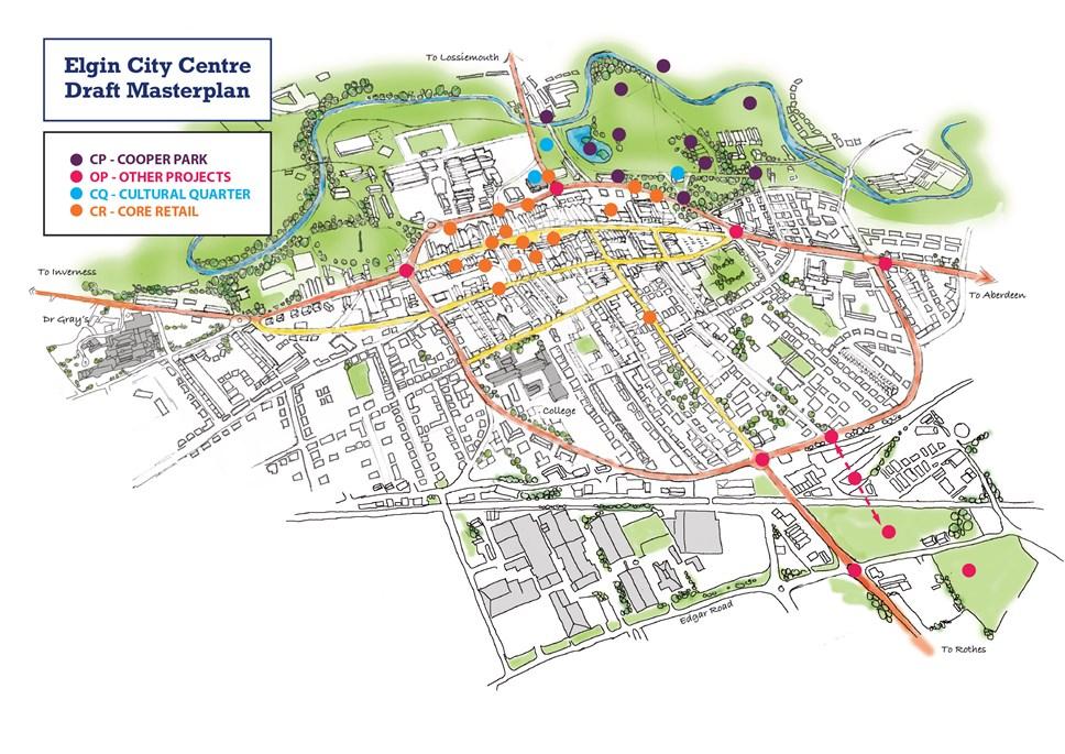 Elgin City Centre Masterplan map