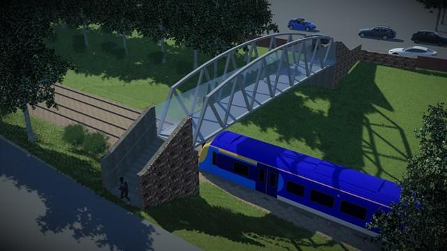 Network Rail thanks Strathbungo community after footbridge design vote: Bridge A.3 - high red