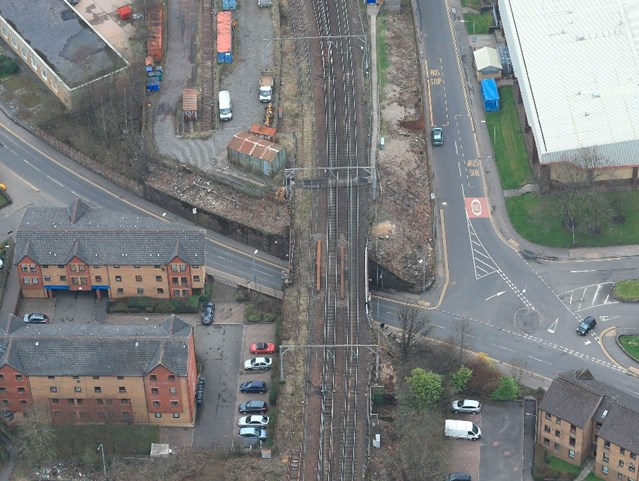 £2m upgrade for Dumbarton rail bridge: 17 Oct bridge aerial 2
