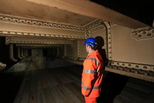 Bermondsey Ghost Station 01: Greg Thornett, Project Manager, looks at the remains of Southwark Park station, hidden in the catacombs under the railway in Bermondsey
