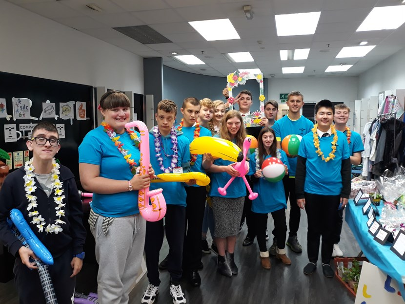 Students spread joy with 'Compass House' pop up shop in St John's Centre: compasshousegrouppic-july2019-739461.jpg