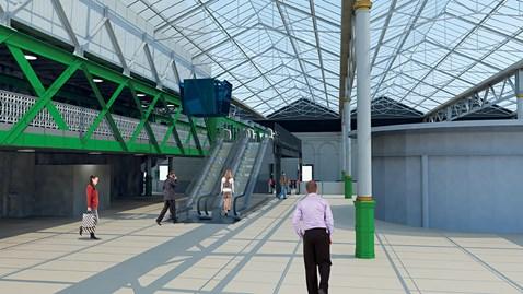 Waverley platform 11 escalators