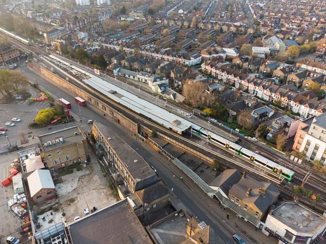 Balham station - aerial view
