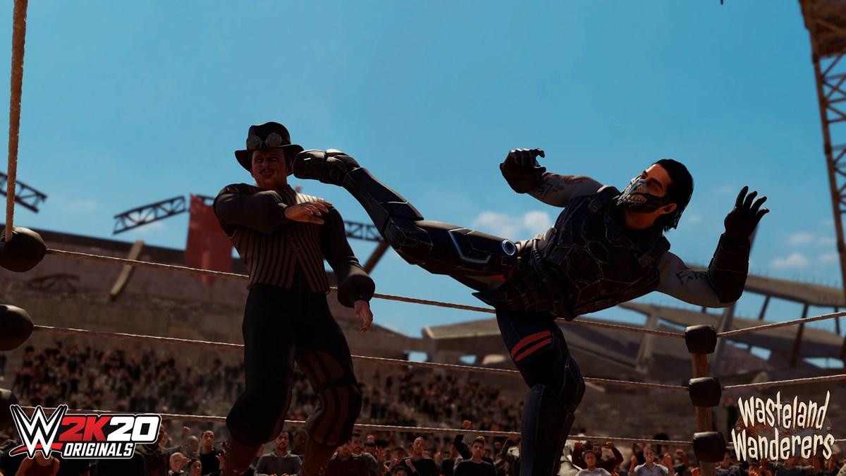 WWE2K20 Originals Wasteland Wanderers Mustafa Ali and Jack Gallagher